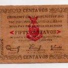 Philippines 1943 Iloilo 50 Centavos Emergency Banknote S326 Post Surrender Issue
