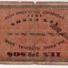 PHILIPPINES Iloilo 1941 10 Pesos S309 Pre Surrender C/S ORAS, SAMAR P.I.