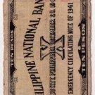 Philippines Emergency Cebu S217 1941 10 Pesos PNB C/S ORMOC SOUTHERN LEYTE