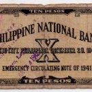 Philippines Emergency Cebu S217 1941 10 Pesos CS JARO, LEYTE