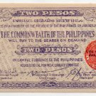 Philippines Negros Two Pesos Guerilla Emergency Banknote S647b Uncirculated UNC