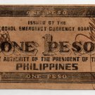 Philippine Bohol Province S139b 1943 1 Peso Banknote CLERK Hand-signed AU/UNC