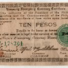PHILIPPINES Negros Island Emergency Guerilla Note 1943 1 Peso S663a White Paper