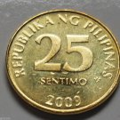 2009 25 Centavos Philippines Coin Uncirculated KM# 271a
