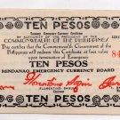 Philippines 1944 Mindanao 10 Pesos Emergency Banknote S527e SERIES S5 Crisp