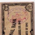 Philippines Emergency Cebu S217b 1941 10 Pesos C/S Bernardo Augustine, Leyte