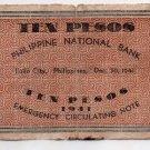 PHILIPPINES Iloilo 1941 10 Pesos S309 Pre Surrender C/S ALLEN NORTHERN SAMAR