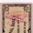 Philippines Emergency Cebu S217b 1941 10 Pesos C/S Lino Pore CARIGARA, Leyte