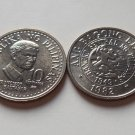 Philippines 1982 10 Sentimos Coin KM# 226 Taken From Roll Uncirculated Luster