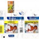 Philippines Winston Cigarette Wrapper Premature Birth Warning Duel Language