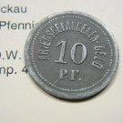 Germany POW Token 10 Pfennig VF