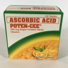 100 Capsule Ascorbic Acid Poten-Cee Tablets Prevention of Vitamin C Deficiency