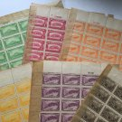 PHILIPPINES 1932 Landmarks  Sheets w Plate Numbers Scarce Lot Scott 354 –60