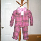 2 PEICE CHECKERED OUTFIT FLOWERS BY ZOE