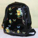 Mini Back Pack Purse Frogs Butterflys Black Vinyl Girls