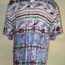 Pierre Cardin Aloha Hawaiian Shirt Pineapples Palms M