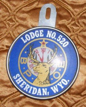 Bpoe  Elks Lodge 520 Wy Large Reflector Plate Bike