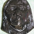 Geronimo Apache Wall Hanging Plaster Cast 1968 R Hicks