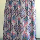 Vintage Rayon Skirt Beautiful Print Rafaella Soft 8