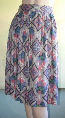 Vintage Rayon Skirt Beautiful Print Rafaella Soft 8