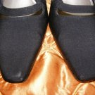 Black Sling Back Shoes Heels Ros Hommerson 7 M