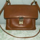 Mod Leather Messenger Sling Purse Ultra Thin Saddle Tan