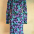 Body-con Dress Floral Print All over Smocked Shirred OS