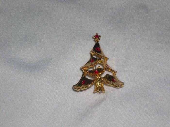 Vintage Holiday Christmas Tree Pin