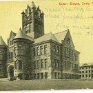 Vintage Used Iowa City Postcard
