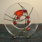 Mackintosh Rose Glass Plate