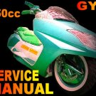 150 150cc GY6 QMB/QMJ Chinese Scooter Service Repair Manual Jialing Zhenhua Strada Verycci Tank Sunl