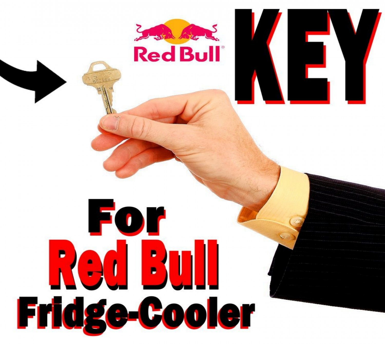RED BULL RedBull KEY for Fridge Cooler Model BC1