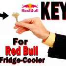 "RED BULL RedBull KEY for Fridge Cooler Model VV3 The ""Large Cooler"" Refrigerator ."