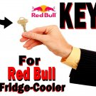 "RED BULL RedBull KEY for Fridge Cooler Model 360 The rare ""360-degree All-Glass"" Refrigerator ."