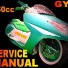 Scooter 150cc Service Repair Manual Longbo Merato Peace Sports VIP Tao Tao Madami