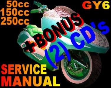 Scooter 150cc 150 GY6 QMB//QMJ Service Repair Shop Manual on CD Jinlun MADAMI