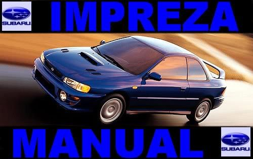 1999 Subaru  Impreza Service Repair Shop Manual on CD Fix Rebuild Legacy Wagon99