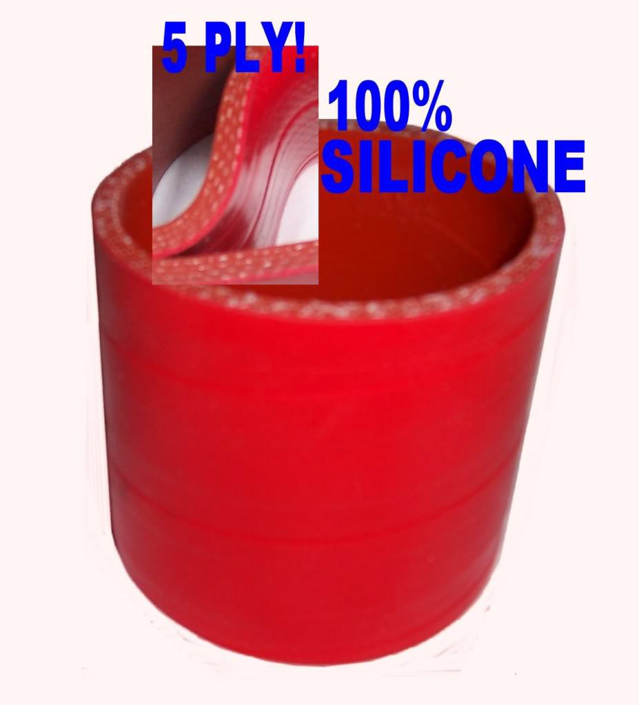 """4 pcs 3"""" Inch Red Silicone Couplers  for I/C Intercooler or Air Filter Intakes"""