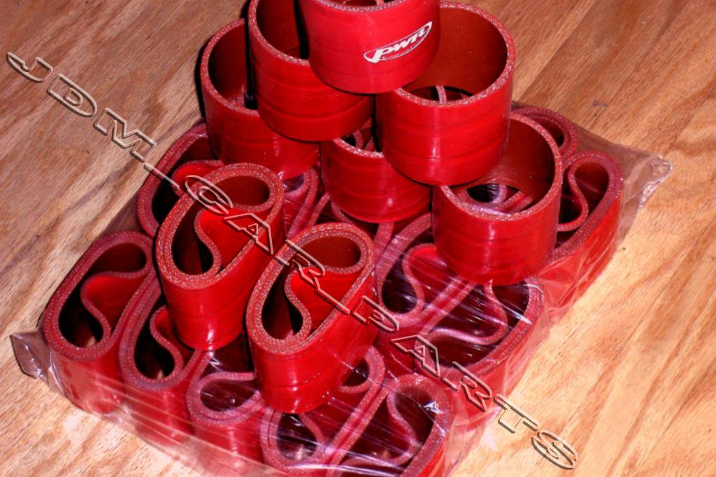 """16 pcs 3"""" Inch Red Silicone Couplers  for I/C Intercooler or Air Filter Intakes"""