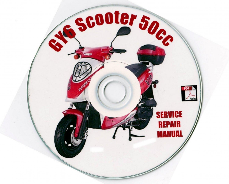 50 Scooter 50cc GY6 Service Repair Manual on CD Sanli Qingqi jmStar VIP
