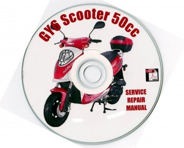 Scooter 50cc GY6 Service Repair Manual on CD Hyosung Baccio  Fix Repair Rebuild
