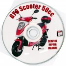 Scooter 50cc GY6 Prodigy Peace Jcl Shen Repair Manual on CD Fix Repair Rebuild