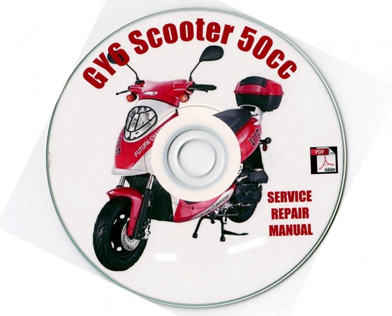 Scooter 50cc 4-Sroke GY6 50 Repair Manual Roketa Kazuma Peace Sports VIP