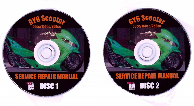 Chinese Scooter 50cc 150cc 250cc GY6 QMB Service Repair Manual MC Zuma GMI Bahama all MC Models
