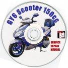 Scooter 150cc Repair Manual on CD Wangye TaoTao VIP Branson Wuyang Roketa LPG