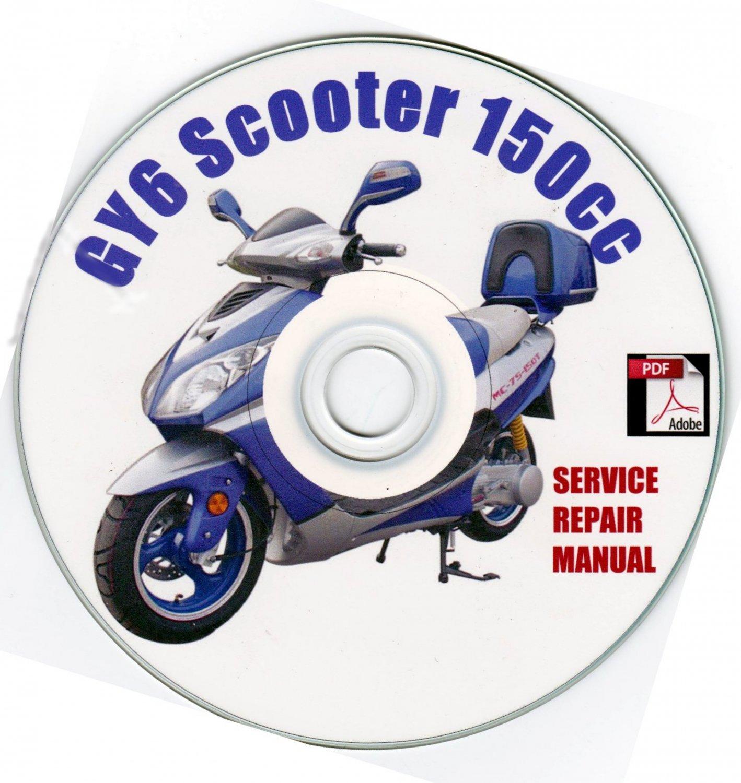 Scooter 150cc GY6 QMB/QMJ Service Shop Manual Fix Rebuilt Repair