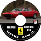 1974 Ferrari Dino 308 GT4 Factory Service Repair Shop Manual on CD Fix Rebuilt