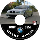 BMW 2002 325i e46 3-Series Factory OEM Service Repair Shop Manual on CD Fix Repair Rebuilt