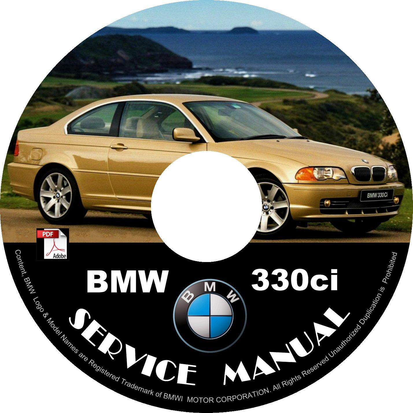BMW 2000 330ci e46 3-Series Factory OEM Service Repair Shop Manual on CD Fix Repair Rebuilt