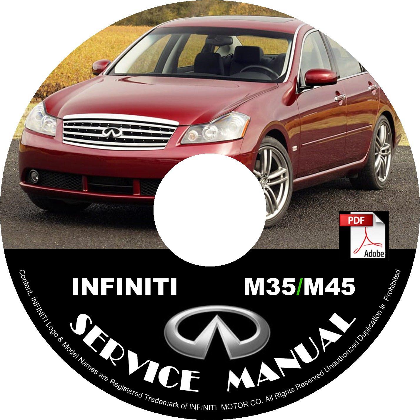 2006 Infiniti M35 M45 Factory Service Repair Shop Manual on CD Fix Repair Rebuild 06 Workshop Guide